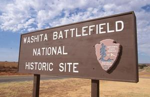 Primary view of Washita National Battlefield