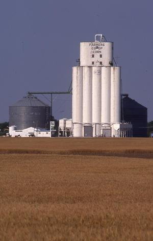 Primary view of object titled 'Wheat Field and Grain Elevator'.