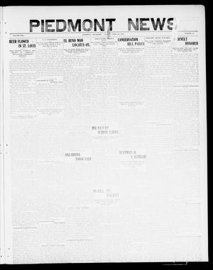 Primary view of object titled 'Piedmont News (Piedmont, Okla.), Vol. 2, No. 14, Ed. 1 Friday, April 29, 1910'.