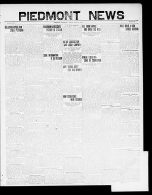 Primary view of object titled 'Piedmont News (Piedmont, Okla.), Vol. 2, No. 21, Ed. 1 Friday, June 24, 1910'.