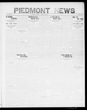 Primary view of object titled 'Piedmont News (Piedmont, Okla.), Vol. 2, No. 23, Ed. 1 Friday, July 8, 1910'.