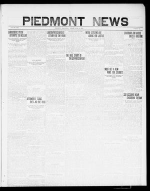 Primary view of object titled 'Piedmont News (Piedmont, Okla.), Vol. 2, No. 24, Ed. 1 Friday, July 15, 1910'.