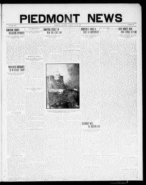 Primary view of object titled 'Piedmont News (Piedmont, Okla.), Vol. 2, No. 25, Ed. 1 Friday, July 22, 1910'.