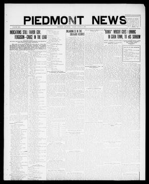Primary view of object titled 'Piedmont News (Piedmont, Okla.), Vol. 2, No. 27, Ed. 1 Friday, August 5, 1910'.