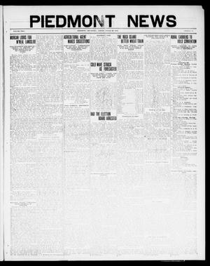 Primary view of object titled 'Piedmont News (Piedmont, Okla.), Vol. 2, No. 30, Ed. 1 Friday, August 26, 1910'.