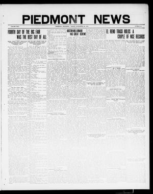 Primary view of object titled 'Piedmont News (Piedmont, Okla.), Vol. 2, No. 34, Ed. 1 Friday, September 23, 1910'.