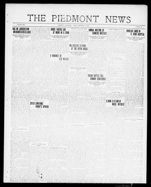 Primary view of object titled 'The Piedmont News (Piedmont, Okla.), Vol. 2, No. 40, Ed. 1 Friday, November 4, 1910'.