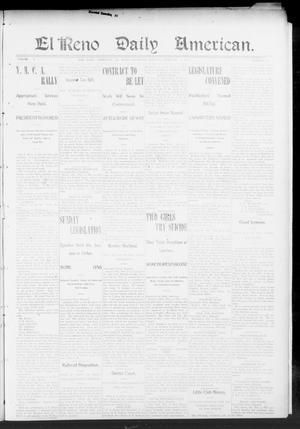 Primary view of El Reno Daily American. (El Reno, Okla.), Vol. 1, No. 347, Ed. 1 Monday, February 9, 1903