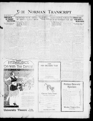 Primary view of object titled 'The Norman Transcript (Norman, Okla.), Vol. 8, No. 202, Ed. 1 Thursday, December 23, 1920'.