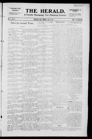 Primary view of The Herald. (Haileyville, Okla.), Vol. 3, No. 11, Ed. 1 Thursday, June 16, 1921