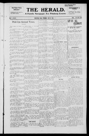 Primary view of object titled 'The Herald. (Haileyville, Okla.), Vol. 3, No. 12, Ed. 1 Thursday, June 23, 1921'.