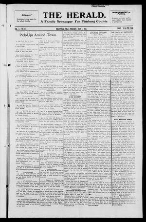 Primary view of object titled 'The Herald. (Haileyville, Okla.), Vol. 3, No. 14, Ed. 1 Thursday, July 7, 1921'.