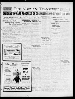 Primary view of object titled 'The Norman Transcript (Norman, Okla.), Vol. 9, No. 126, Ed. 1 Thursday, October 20, 1921'.