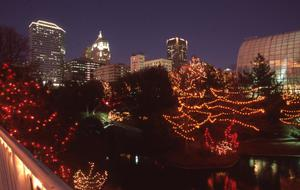 Primary view of object titled 'Myriad Gardens and Oklahoma City Skyline'.