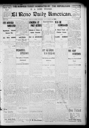 Primary view of The El Reno Daily American. (El Reno, Okla.), Vol. 3, No. 187, Ed. 1 Friday, March 11, 1904