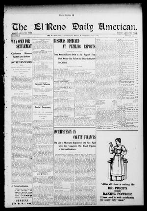 Primary view of object titled 'The El Reno Daily American. (El Reno, Okla.), Vol. 3, No. 294, Ed. 1 Thursday, July 14, 1904'.