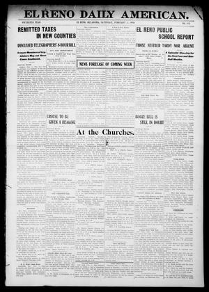 Primary view of object titled 'El Reno Daily American. (El Reno, Okla.), Vol. 15, No. 173, Ed. 1 Saturday, February 1, 1908'.