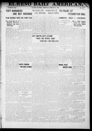 Primary view of object titled 'El Reno Daily American. (El Reno, Okla.), Vol. 15, No. 176, Ed. 1 Wednesday, February 5, 1908'.