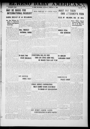 Primary view of object titled 'El Reno Daily American. (El Reno, Okla.), Vol. 15, No. 179, Ed. 1 Saturday, February 8, 1908'.