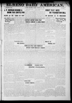 Primary view of object titled 'El Reno Daily American. (El Reno, Okla.), Vol. 15, No. 196, Ed. 1 Friday, February 28, 1908'.