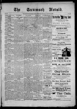 Primary view of object titled 'The Tecumseh Herald. (Tecumseh, Okla. Terr.), Vol. 2, No. 46, Ed. 1 Saturday, August 26, 1893'.
