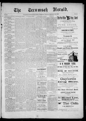 Primary view of object titled 'The Tecumseh Herald. (Tecumseh, Okla. Terr.), Vol. 2, No. 51, Ed. 1 Saturday, September 30, 1893'.