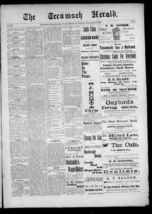 Primary view of object titled 'The Tecumseh Herald. (Tecumseh, Okla. Terr.), Vol. 3, No. 8, Ed. 1 Saturday, December 2, 1893'.