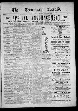 Primary view of The Tecumseh Herald. (Tecumseh, Okla. Terr.), Vol. 3, No. 11, Ed. 1 Saturday, December 23, 1893