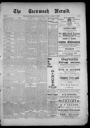 Primary view of object titled 'The Tecumseh Herald. (Tecumseh, Okla. Terr.), Vol. 3, No. 15, Ed. 1 Saturday, January 20, 1894'.