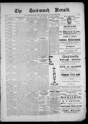 Primary view of object titled 'The Tecumseh Herald. (Tecumseh, Okla. Terr.), Vol. 3, No. 18, Ed. 1 Saturday, February 10, 1894'.