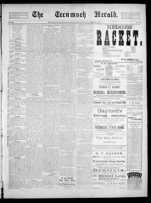 Primary view of object titled 'The Tecumseh Herald. (Tecumseh, Okla. Terr.), Vol. 3, No. 29, Ed. 1 Saturday, April 28, 1894'.
