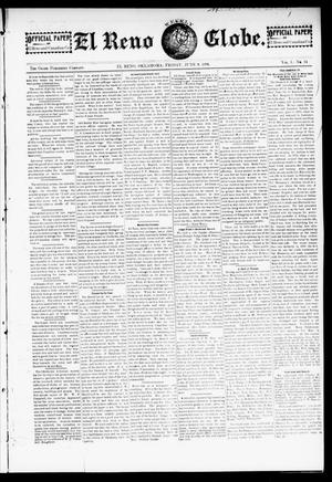 Primary view of object titled 'El Reno Weekly Globe. (El Reno, Okla.), Vol. 1, No. 14, Ed. 1 Friday, June 8, 1894'.