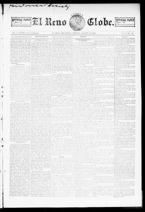 Primary view of object titled 'El Reno Weekly Globe. (El Reno, Okla.), Vol. 1, No. 23, Ed. 1 Friday, August 10, 1894'.