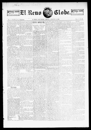 Primary view of object titled 'El Reno Weekly Globe. (El Reno, Okla.), Vol. 1, No. 26, Ed. 1 Friday, August 31, 1894'.