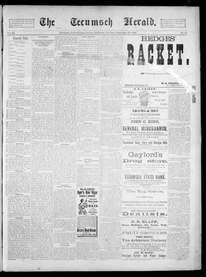 Primary view of object titled 'The Tecumseh Herald. (Tecumseh, Okla. Terr.), Vol. 3, No. 50, Ed. 1 Saturday, September 22, 1894'.