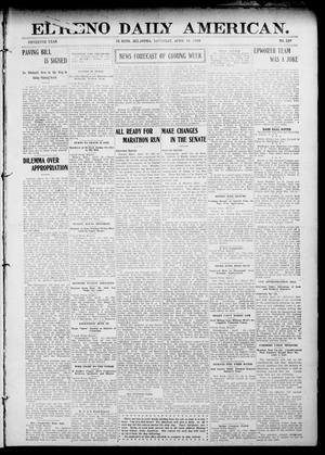 Primary view of object titled 'El Reno Daily American. (El Reno, Okla.), Vol. 15, No. 239, Ed. 1 Saturday, April 18, 1908'.