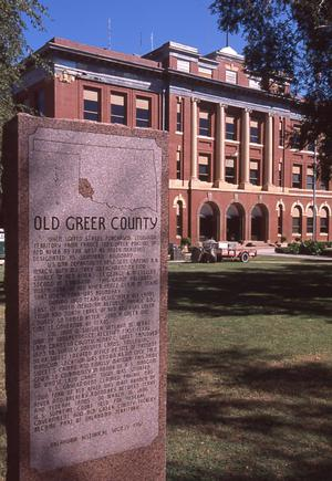Primary view of object titled 'Greer County Courthouse'.