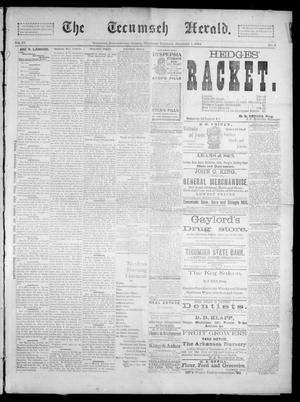 Primary view of object titled 'The Tecumseh Herald. (Tecumseh, Okla. Terr.), Vol. 4, No. 8, Ed. 1 Saturday, December 1, 1894'.