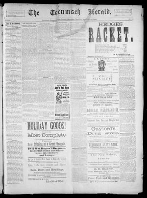 Primary view of object titled 'The Tecumseh Herald. (Tecumseh, Okla. Terr.), Vol. 4, No. 12, Ed. 1 Saturday, December 29, 1894'.