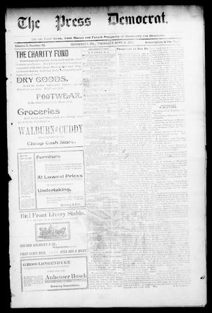 Primary view of object titled 'The Press Democrat. (Hennessey, Okla.), Vol. 3, No. 50, Ed. 1 Thursday, September 5, 1895'.