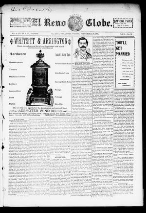 Primary view of El Reno Weekly Globe. (El Reno, Okla.), Vol. 2, No. 31, Ed. 1 Friday, September 27, 1895