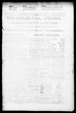 Primary view of object titled 'The Press Democrat. (Hennessey, Okla.), Vol. 3, No. 2, Ed. 1 Thursday, October 3, 1895'.