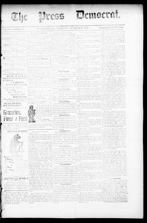 Primary view of object titled 'The Press Democrat. (Hennessey, Okla.), Vol. 3, No. 3, Ed. 1 Thursday, October 10, 1895'.