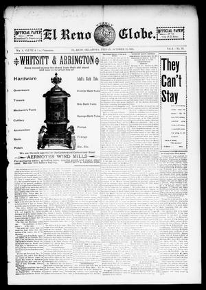 Primary view of object titled 'El Reno Weekly Globe. (El Reno, Okla.), Vol. 2, No. 35, Ed. 1 Friday, October 25, 1895'.