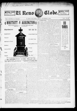 Primary view of object titled 'El Reno Weekly Globe. (El Reno, Okla.), Vol. 2, No. 38, Ed. 1 Friday, November 15, 1895'.