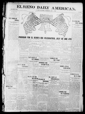 Primary view of object titled 'El Reno Daily American. (El Reno, Okla.), Vol. 15, No. 302, Ed. 1 Wednesday, July 1, 1908'.