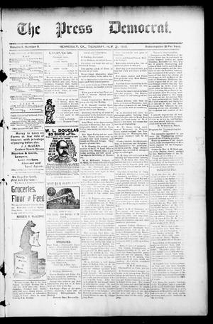 Primary view of object titled 'The Press Democrat. (Hennessey, Okla.), Vol. 3, No. 9, Ed. 1 Thursday, November 21, 1895'.