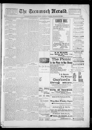 Primary view of object titled 'The Tecumseh Herald. (Tecumseh, Okla. Terr.), Vol. 5, No. 8, Ed. 1 Saturday, November 30, 1895'.