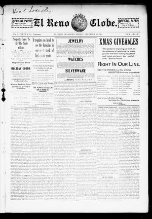 Primary view of object titled 'El Reno Weekly Globe. (El Reno, Okla.), Vol. 2, No. 42, Ed. 1 Friday, December 13, 1895'.
