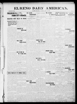 Primary view of object titled 'El Reno Daily American. (El Reno, Okla.), Vol. 16, No. 4, Ed. 1 Saturday, July 18, 1908'.
